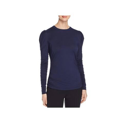 Elie Tahari Womens Daisy T-Shirt Crewneck Puff Sleeve