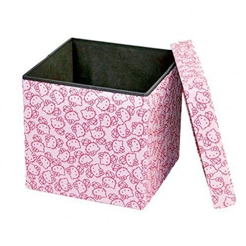 Surprising Dar Living Hello Kitty Storage Ottoman Peach Pink 14 5X14 5 Inches Uwap Interior Chair Design Uwaporg