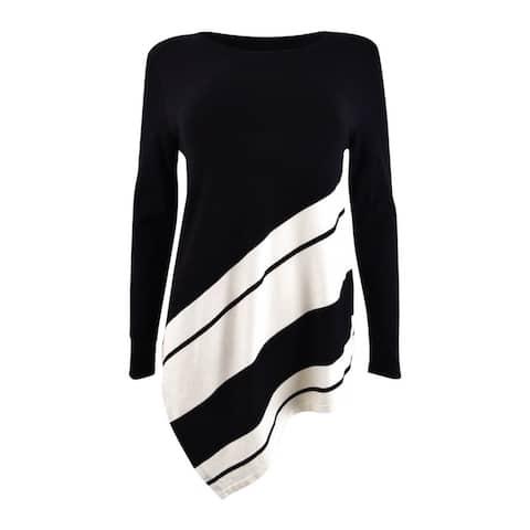 Alfani Women's Petite Striped Asymmetrical Tunic