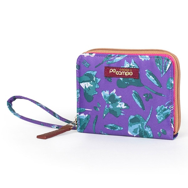 Po Campo Bill Fold Women's Wallet, Purple Petals