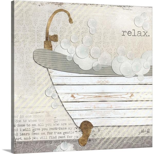 """Relax"" Canvas Wall Art"