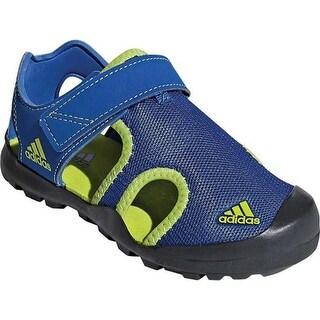 adidas Children's Captain Toey Closed Toe Sandal Blue Beauty/Solar Slime/Carbon