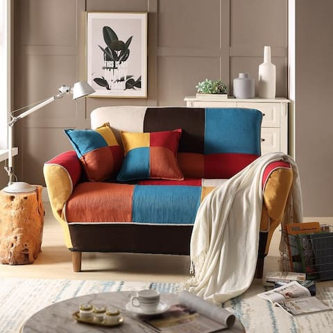 Moda Small Space Colorful Sleeper Sofa Solid Wood Legs