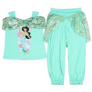 Disney Girls' Princess Jasmine Fantasy 2-Piece Pajama Set