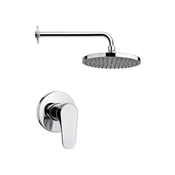Nameeks SS1216 Remer 2.5 GPM Single Function Rain Shower Head with Valve Trim Rough In Included - Chrome