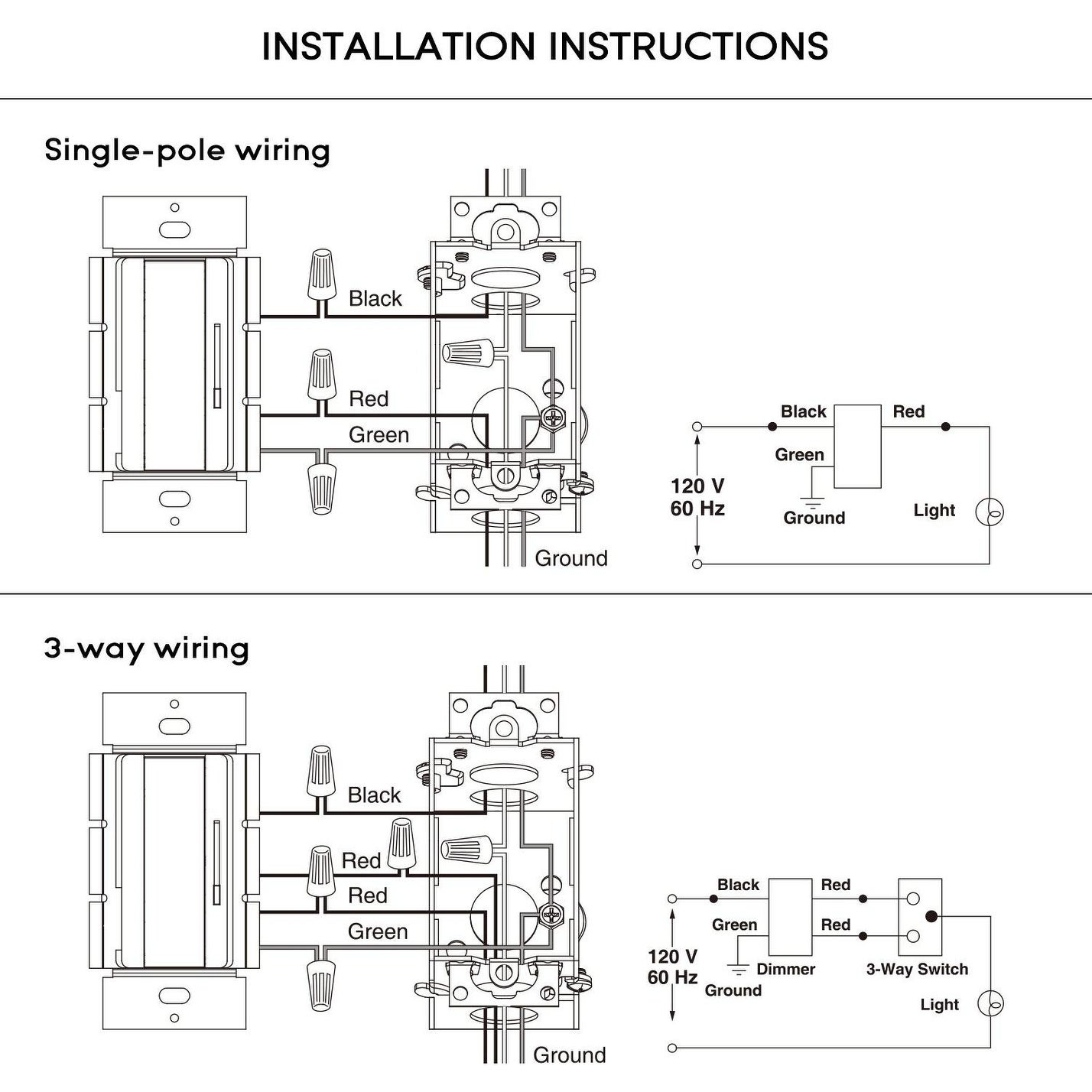 3 Way Switch Single Pole Wiring Diagram from ak1.ostkcdn.com