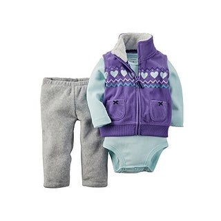 Carter's Baby Girls' 3 Piece Vest, Bodysuit and Pants - Newborn