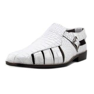 Stacy Adams Sabella Men W Open Toe Leather White Gladiator Sandal