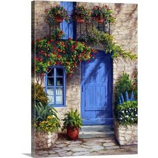 Barbara Felisky Premium Thick-Wrap Canvas entitled Provence Blue Door