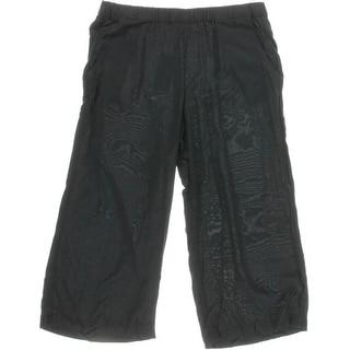 Splendid Womens Juniors Solid Flat Front Capri Pants - L