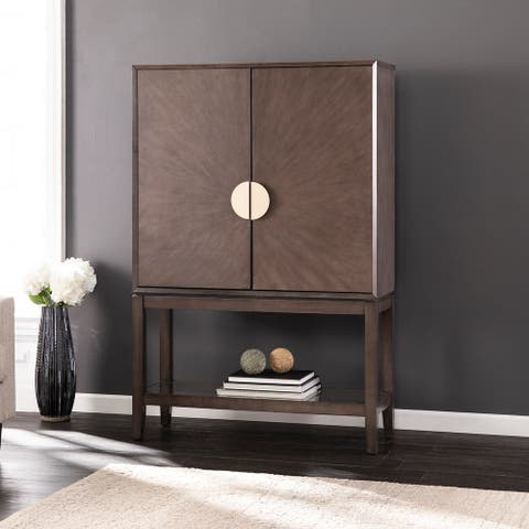 Strick & Bolton Barlow Contemporary Gray Wood Storage Cabinet