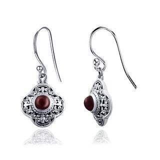Link to Topaz, Emerald, Ruby, Sapphire Sterling Silver Round Dangle Earrings by Orchid Jewelry Similar Items in Earrings