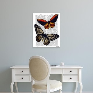 Easy Art Prints Fab Funky's 'Butterflies 2' Premium Canvas Art