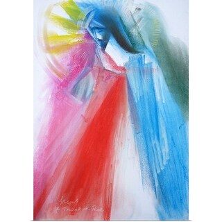Poster Print entitled Peace of Divine Mercy - multi-color