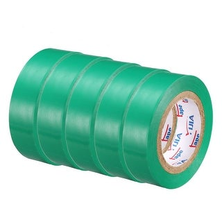 """PVC Electrical Insulating Tape Single Sided 21/32"""" Width 49ft 20mil Green 5pcs - 20 mil Thick, Green"""