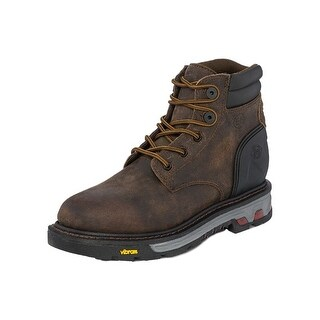 Justin Work Boots Men Drywall Brown Waterproof Lace Up Ortholite