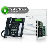 Panasonic KX-TA824-7736-5CO 8 pack KX-TA824 Phone System with KX-TA82483 Exp Card and KX-T7736 Corded Phones