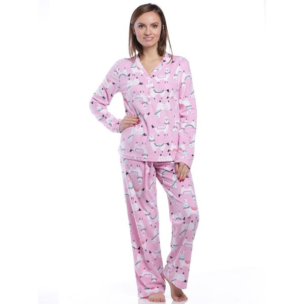 1417d627d0af2 Shop PJ Couture Women s Merry Micro Llama Pajama Gift Set With Blanket -  Free Shipping On Orders Over  45 - Overstock - 25727904