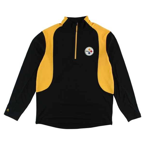 innovative design e387f f3c00 Antigua Mens Pittsburgh Steelers Quarter Zip Pullover Jacket Black -  Black/Yellow/White