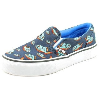 Vans Classic Slip-On Youth Round Toe Canvas Multi Color Sneakers