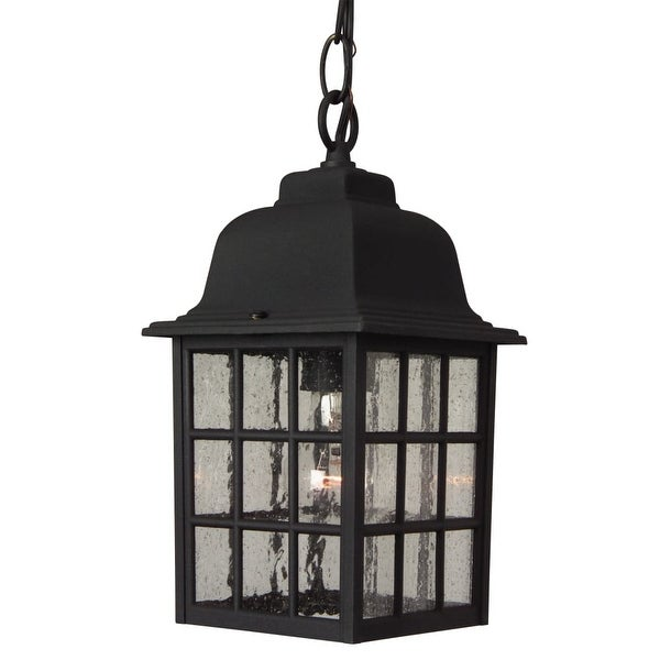 """Craftmade Z271 Grid Cage 1-Light Rectangular Outdoor Pendant - 6"""" Wide - N/A"""
