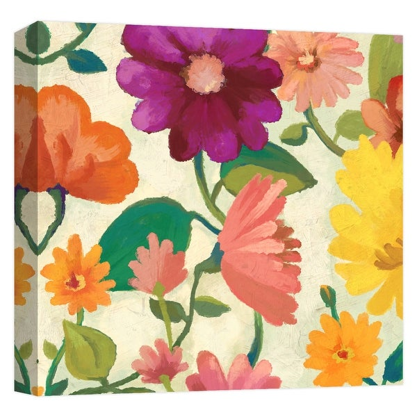 "PTM Images 9-124608 PTM Canvas Collection 12"" x 12"" - ""Spring Bouquet II"" Giclee Flowers Art Print on Canvas"