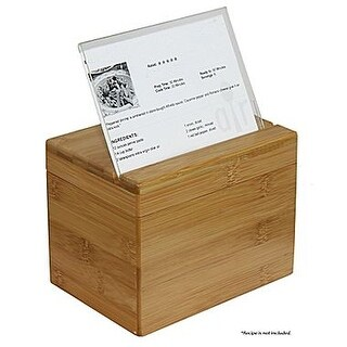 Oceanstar RB1408 Bamboo Recipe Box with Divider