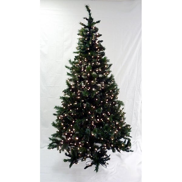 7.5' Pre-Lit Frosted Mixed Pine Artificial Christmas Tree - Clear Lights