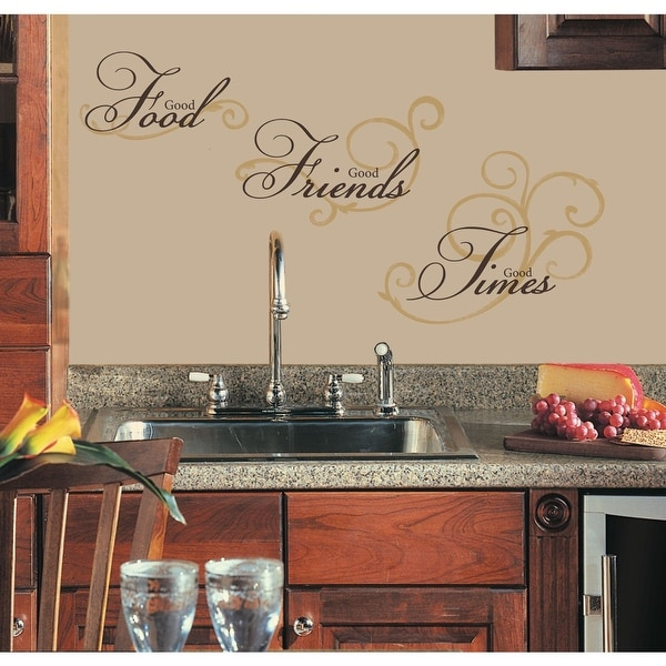 Roommates RMK1692SCS Good Food, Good Friends, Good Times Wall Decals