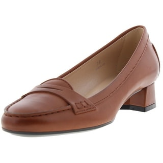 Tods Womens Leather Dress Loafer Heels - 38