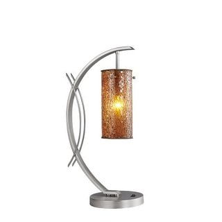 Woodbridge Lighting 13482STN-M10AMB 1 Light Table Lamp from the Eclipse Collecti
