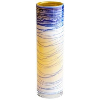 "Cyan Design 8794 Electric Wave 12"" Tall Glass Vase - Set of 2"