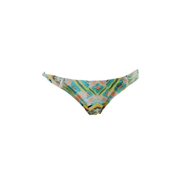 O'Neill Yellow Multi Cabo-Print Knotted-Side Hipster Swim Bottom M