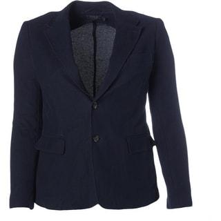 Polo Ralph Lauren Womens Cotton Long Sleeves Two-Button Blazer