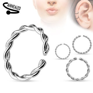 Braided Annealed and Rounded Ends Surgical Steel Cut Ring (Sold Ind.)