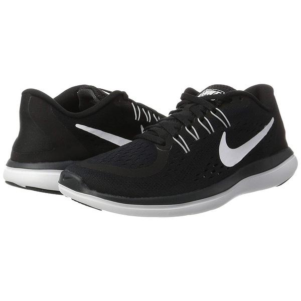 Shop Nike Women's Flex 2017 Rn Running Shoe, Black/White