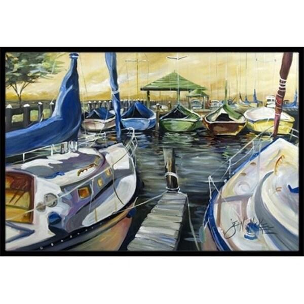 Carolines Treasures JMK1075JMAT Seven Boats Sailboats Indoor & Outdoor Mat 24 x 36 in.