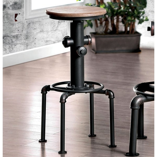 Furniture of America Cess Contemporary Black Metal Barstools (Set of 2). Opens flyout.