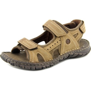Josef Seibel 36490 Men Open-Toe Leather Brown Sport Sandal