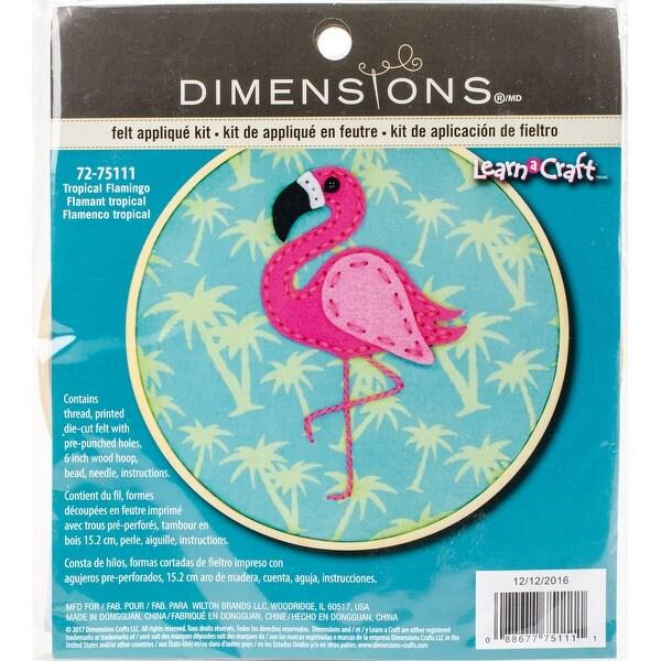 Flamingo Diy Felt Applique Kit-6