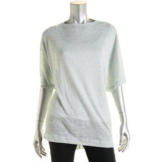 Nally & Millie Womens Knit Burnout Casual Top