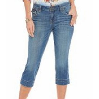 Kut from the Kloth NEW Blue Womens Size 6 T-Flap Pockets Cropped Jeans