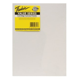 Fredrix Value Series Cut Edge Canvas Panel, 8 x 10 in, White, Pack of 25