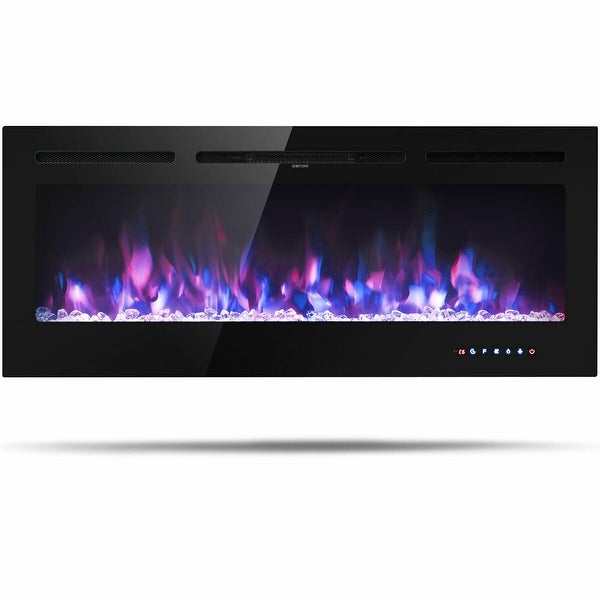 """50 """" Electric Fireplace Recessed Wall Mounted with Multicolor Flame"""