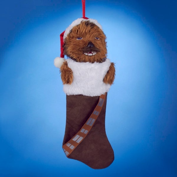 star wars plush head chewbacca brown christmas stocking 19