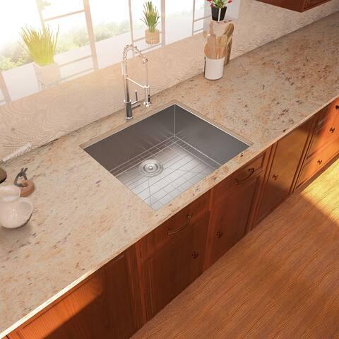 Lordear 25 Inch Kitchen Sink Undermount Stainless Steel Kitchen Sink Single Bowl