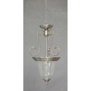 "Volume Lighting V2133 Rhodes 1 Light Down Light 23"" Height Pendant with Clear Seedy Glass Shade"