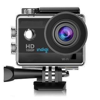 """Indigi NEW Waterproof Action Sports CAM - Video Mode(4K/1080p/720p) & Photo(12MP) - Wide Angle - All Mounts Included - 1.5"""" LCD"""