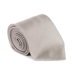 Tom Ford Mens Beige Brown Woven 100% Silk Classic Tie - no size