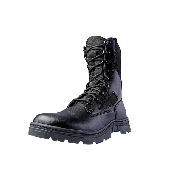 "Ridge Tactical Boots Men Dura-Max Zipper 8"" Shaft Nylon Black"